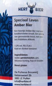 Hert Bier. De Puttense Brouwerij. Speciaal Leven.
